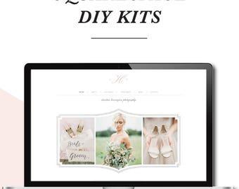 Photography Templates - Squarespace Template - Photography Website Design - Photoshop Templates - DIY Website Branding
