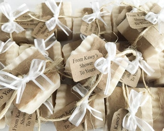 ANY COLORS!  Affordable Country Rustic Elegant Party Favors - From My Shower to Yours - Wedding Baby Bridal Soap Twine Party Guest Gift Idea