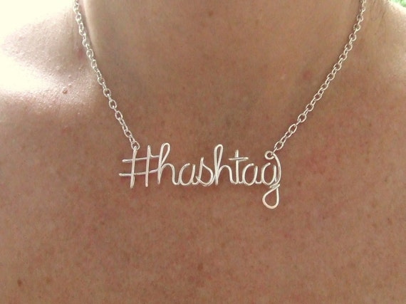 Items Similar To Hashtag Necklace Twitter Instagram