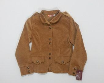Jacke für Mädchen in braun samt Material mit Vintage Knöpfe, neu mit TAGS, Altbestand