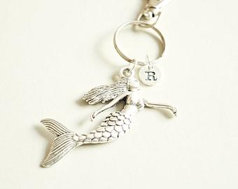 Mermaid Gifts, Mermaid Keychain, Mermaid keyring, Mermaid gift for Women, Kids Gifts, Mermaid Girls gifts, Mermaid key fob, Ocean, Sea,Beach