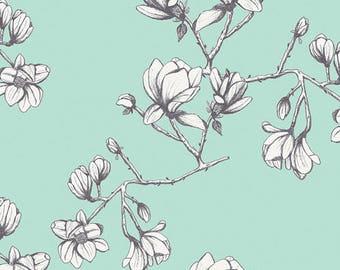 Magnolia Study in Fresh - Wild Bloom by bari j.  - Art Gallery cotton fabric