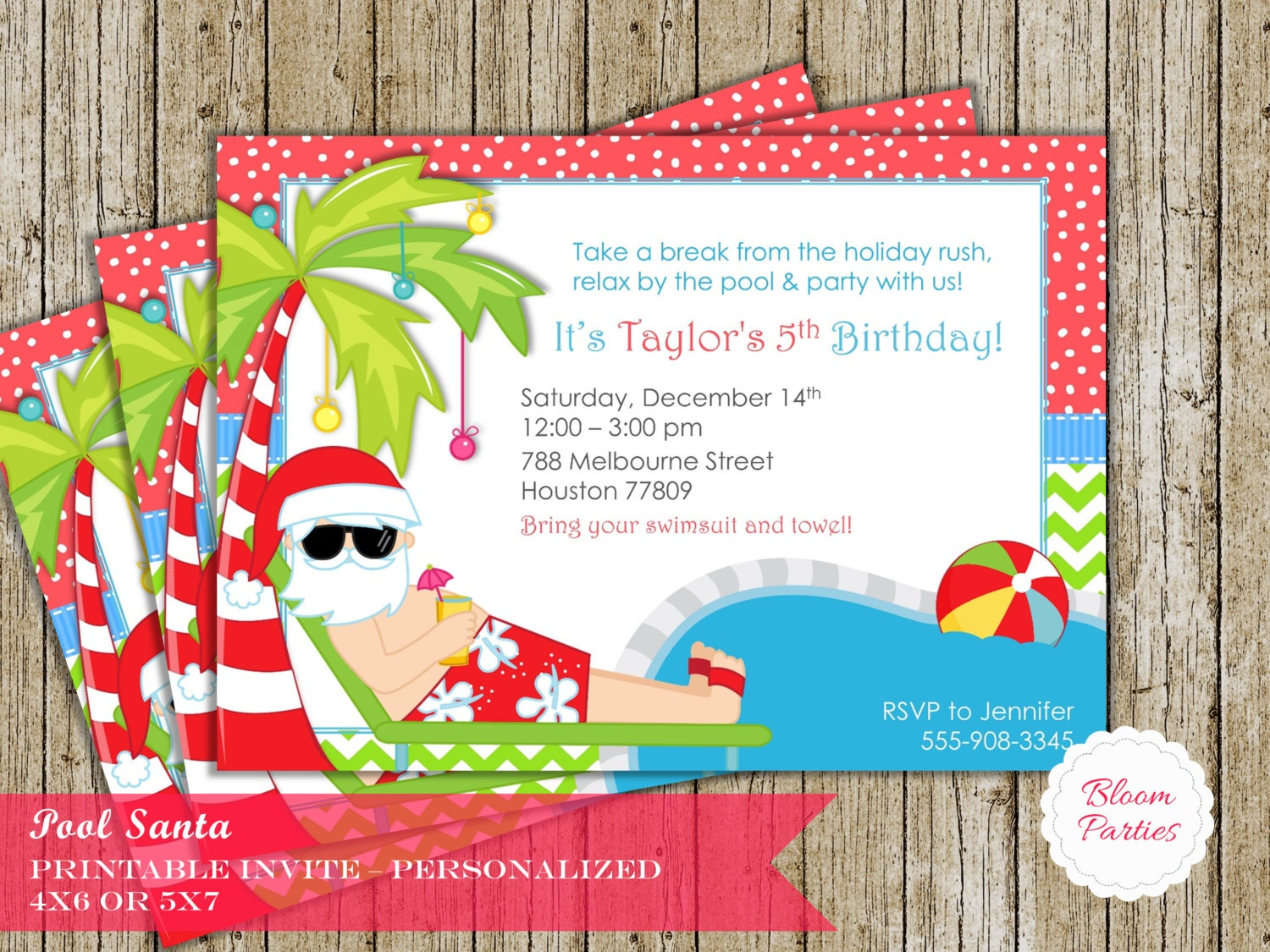 Christmas pool party invitation winter pool party swimming zoom monicamarmolfo Image collections