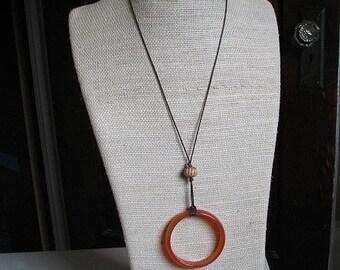 Simple Jibara Circle Necklace
