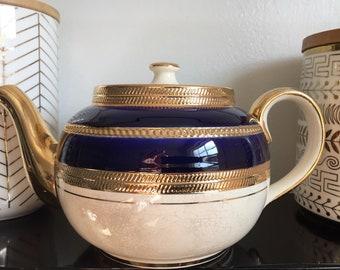 Sadler cobalt teapot