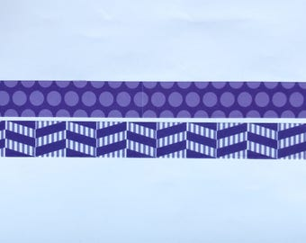 "Purple Basic Washi Tape 24"" Sample Set Bobbins"