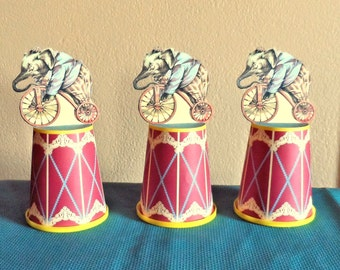 Circus Party Snack Cup Container Favor Wrap Printable File