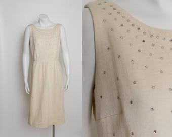 vintage 1950s rhinestone dress by Elinor Porter