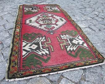 small turkish rug, vintage -  R30