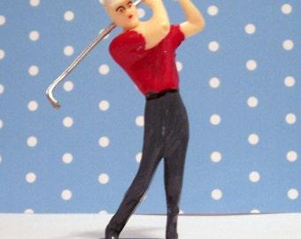Guy Golfer Cake Topper