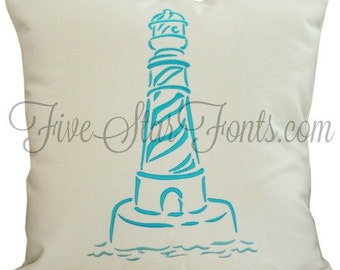 Stylistic Lighthouse Machine Embroidery Design Light House