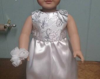 """White Wedding Dress for 18"""" Doll"""