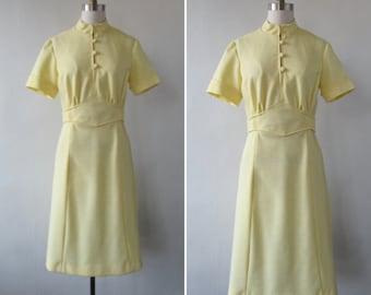 1960 dress   vintage 1960's dress   mod dress   vintage dress   vintage 1960's dress   yellow mod dress   small   Fields of Daffodils Dress