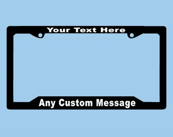 Custom License Plate Frame | Personalized License Plate Frame | LPCA1 | Car accessories | Funny  sc 1 st  Etsy & License plate frame | Etsy