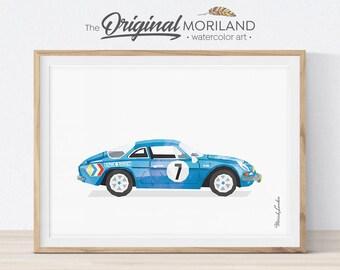 Renault Print, Classic Sport Car, Race Car Decor, Boy Room Decor, Transportation Wall Decor, Printable Car Art, Mens Office Decor