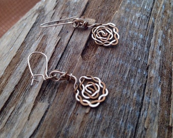 Braided Hammered Wire Earrings
