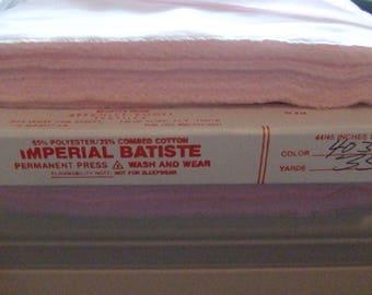 8 Yds. Imperial Batiste - Baby Pink - Sewing Room Destash - Free Shipping