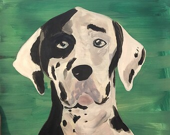 Custom Pet Portrait Acrylic Painting