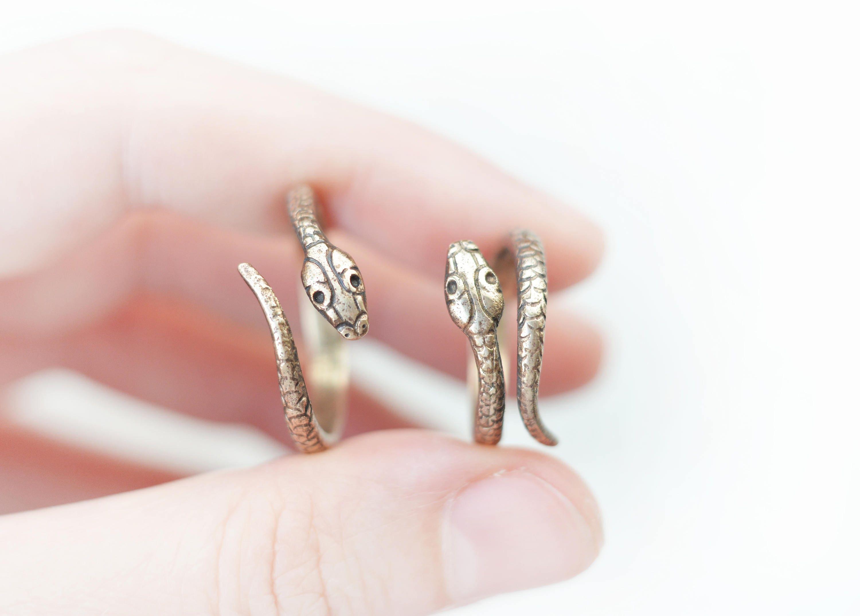 Russian Vintage Snake Ring ADJUSTABLE SIZE bronze or