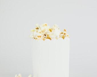 DIY Ready to Pop Plain White Popcorn Party Favor Box (SET OF 10)