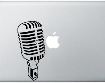 sweet Jazz Microphone music mic DECAL- macbook PC computer