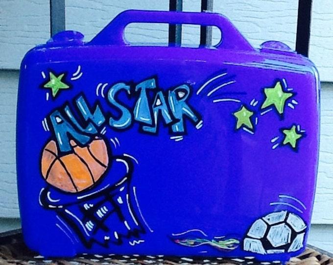 Sports game box, boys game box, boys art box, baseball art box, football art box, soccer art box, baseball toy box, soccer toy box, art box