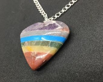 Pride Heart Gem Necklace