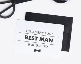Best man card - Best man proposal - Will you be my best man - To my best man C002-6