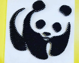 Panda-Home Decor-panda art-wood board-Panda gifts-Bear Decor