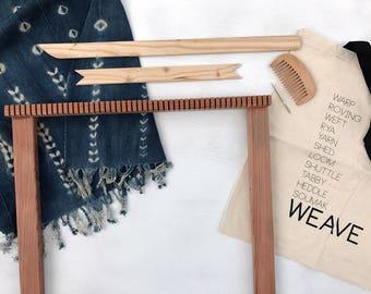 Large Frame Loom / Redwood /Weaving Loom Kit / The Big Bluestem /  Weaving Kit / Weaving Tools / Tapestry Weaving Kit / Fiber Arts