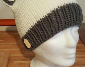 Beanie, knit cap, women's cap, Slouchy beanie, winter cap, ear-cap hand Knitted