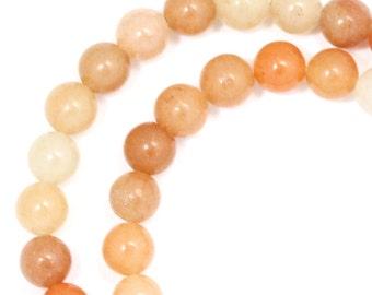 Peach Aventurine Beads - 6mm Round