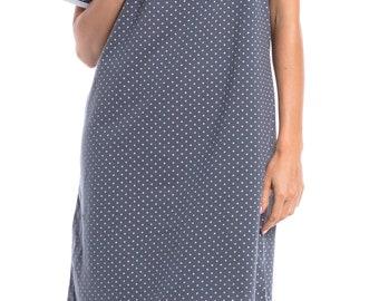 Happy Mama Women's Maternity Hospital Gown Nightie Polka Dot Breastfeeding. 115p