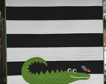 PDF A is for Alligator Quilt Pattern in a PDF for Digital Download