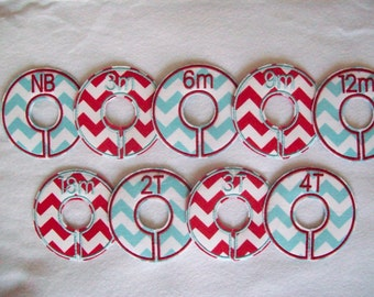 blue and red reverse closet divider set