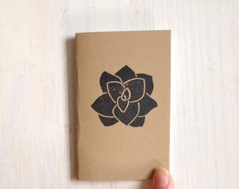 Small Notebook: Succulent Notebook, Leaf, Brown, Succulent, Kids, Fall, Gift, Unique, Journal, Stamped, Thanksgiving, Stocking Stuffer KR611
