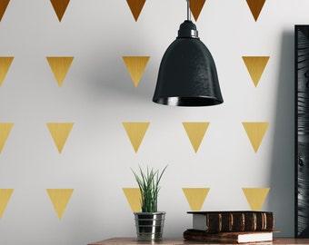Metal Effect Confetti Triangles Wall Stickers-Wall Decals-Shapes-Triangles-Metal Effect-Home Decor-Copper-Silver-Gold-Window Graphics