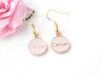Cancer earrings,Cancer jewellery,Cancer birthday, Cancer gift, zodiac earrings, constellation earrings, gold earrings,, bridesmaid gift