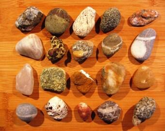 20 Beach Stones from Greece, Greek Stones, Beach Rocks, Beach Pebbles, Sea Stones, Sea Rocks, Sea Pebbles, Greek Pebbles