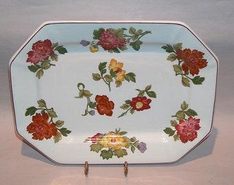 "8513: Wedgwood Kimono Serving Platter Tray 12""  England Vintage Fine China at Vintageway Furniture"