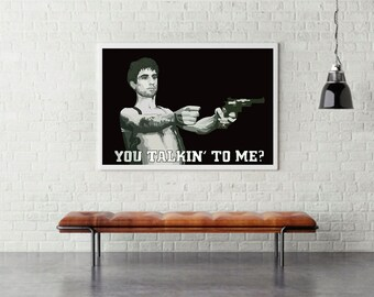 You Talkin' To Me?, Robert De Niro, Taxi Driver movie poster, movie art print