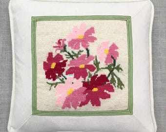 Custom Needlepoint Embroidery Cross Stitch Finishing Pillow