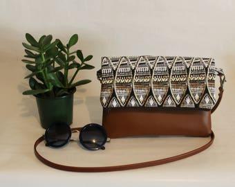 Foldover Crossbody Bag, Simple CrossBody Bag, JULIA CrossBody Purse, Every day Purse, African Crossbody Bag, Boho Bag, Hobo Purse, Handbag