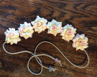 Pale Pink Flower Headband