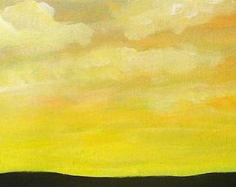 Sunrise painting - Sunrise - Original acrylic painting on canvas - Cloud painting - Original art - Wall art - Sky painting - Landscape