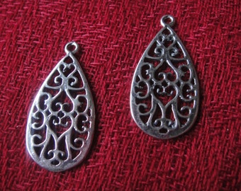 925 sterling silver oxidized earring finding 1 pc.