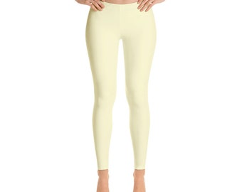 Cream Leggings For Women Yoga Pants Yoga Leggings Workout Leggings Pattern Leggings Printed Leggings Fashion Leggings Womens Tights Yoga