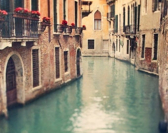 Venice Print, Canal in Venice Photography Print, Fine Art Prints Italy, Travel Gift, Wanderlust, Green Italian Decor, Large Wall Art