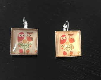 Owl leverback earrings