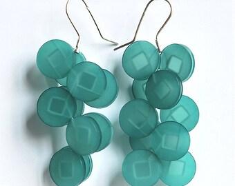 """""""Ratchet"""" Plexiglas earrings"""
